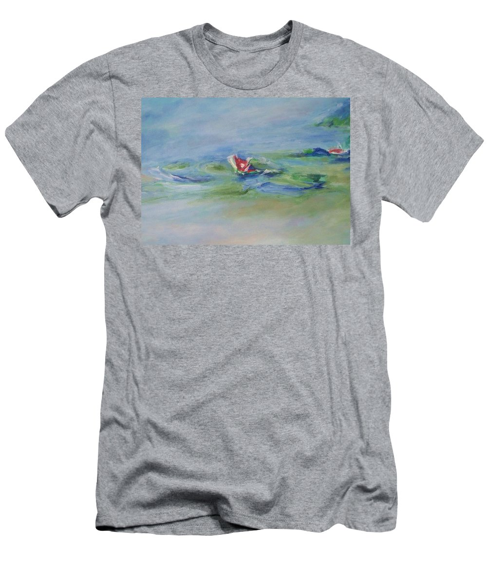 Floral Men's T-Shirt (Athletic Fit) featuring the painting Water Lily by Eric Schiabor