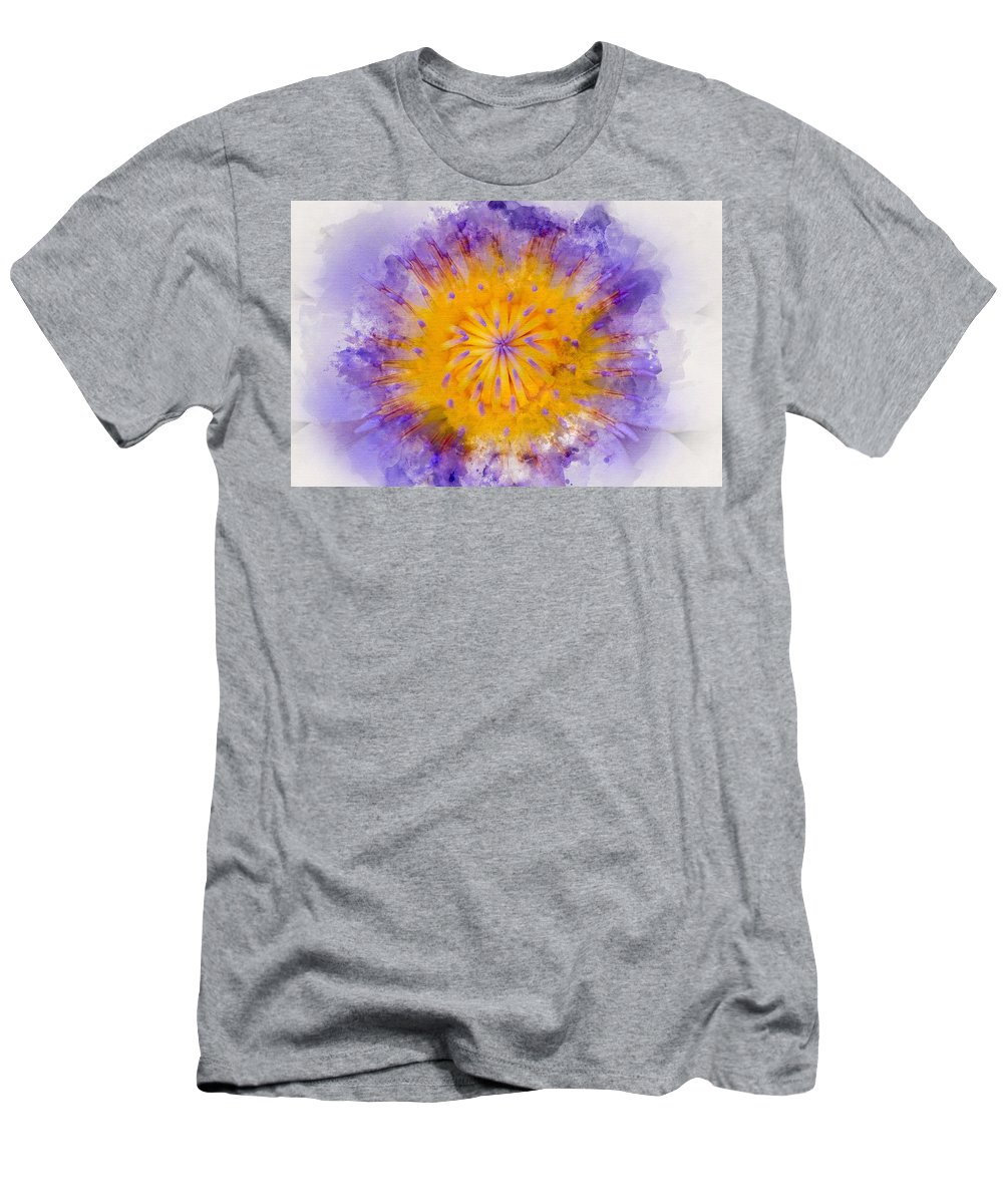 #flower Men's T-Shirt (Athletic Fit) featuring the photograph Water Lily by Mary Koutzarov