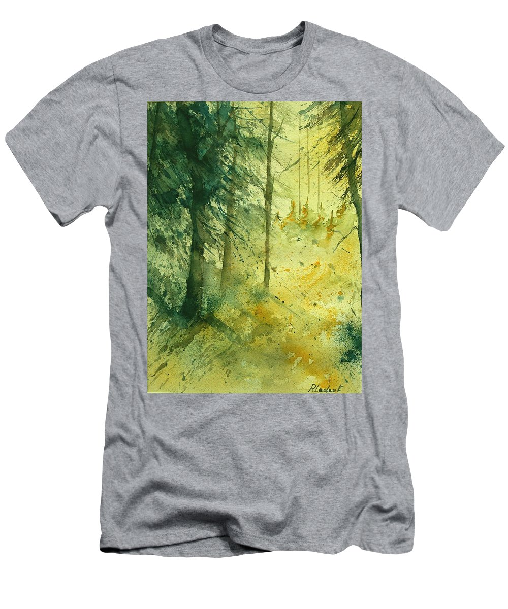Tree Men's T-Shirt (Athletic Fit) featuring the painting Watercolor 030106 by Pol Ledent