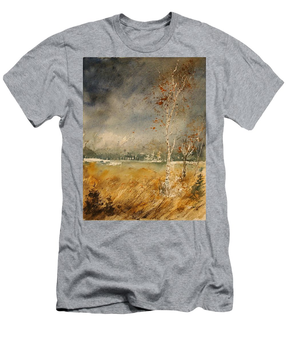 Tree Men's T-Shirt (Athletic Fit) featuring the painting Watercolor 190307 by Pol Ledent