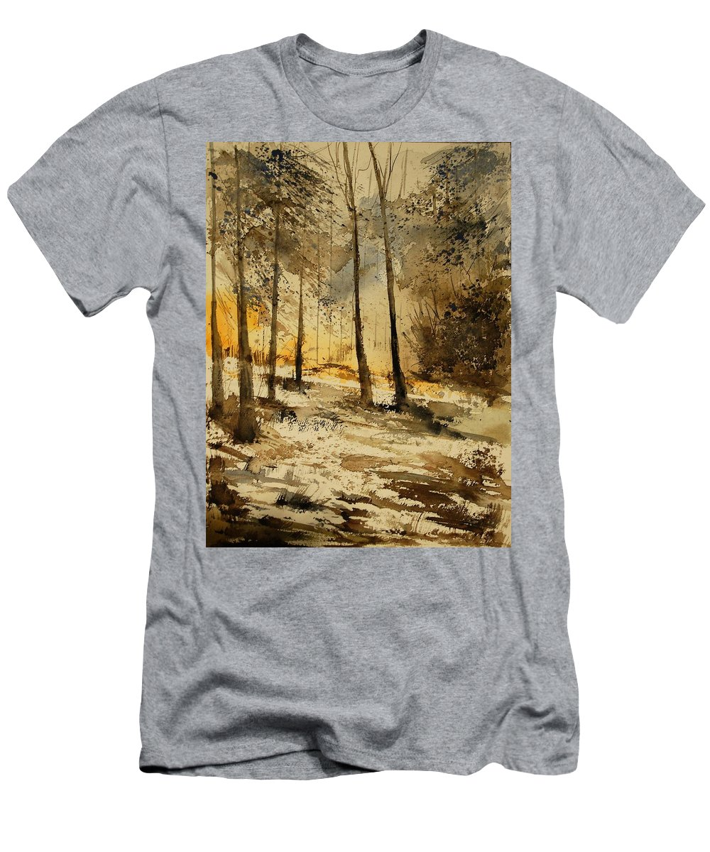 Tree Men's T-Shirt (Athletic Fit) featuring the painting Watercolor 191106 by Pol Ledent