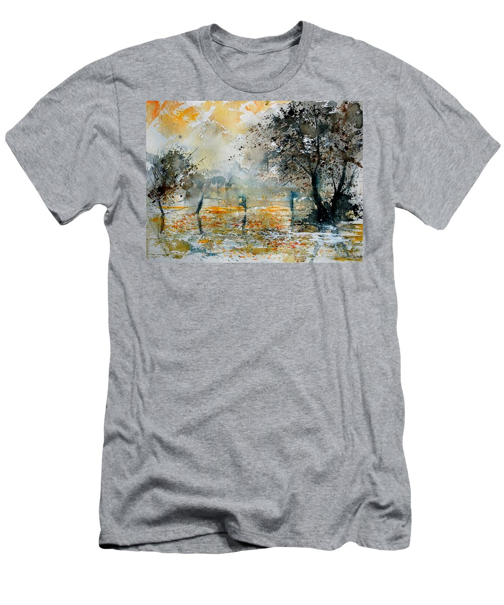 Water Men's T-Shirt (Athletic Fit) featuring the painting Watercolor 261006 by Pol Ledent