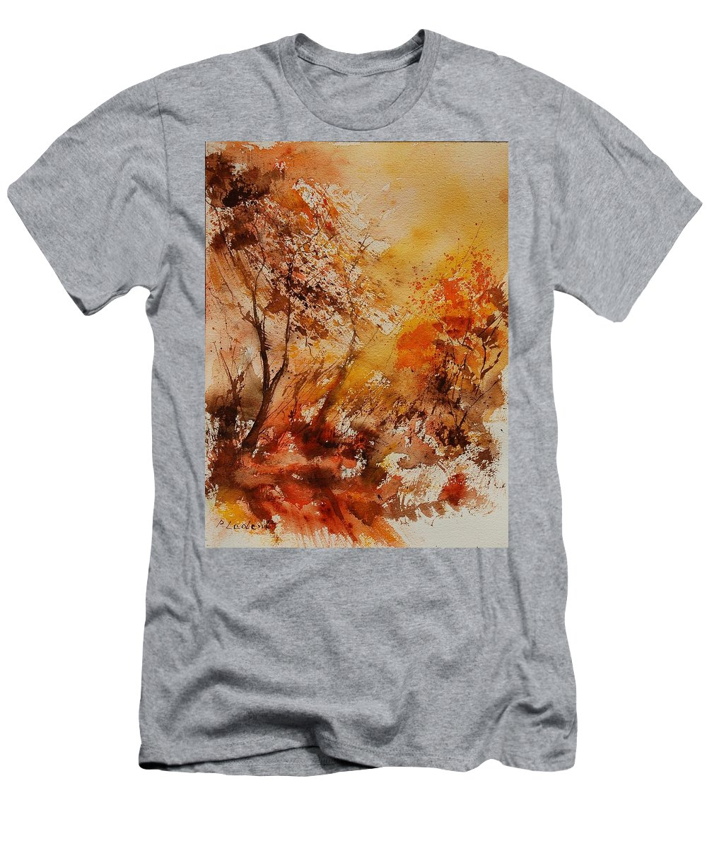 Tree Men's T-Shirt (Athletic Fit) featuring the painting Watercolor 903071 by Pol Ledent