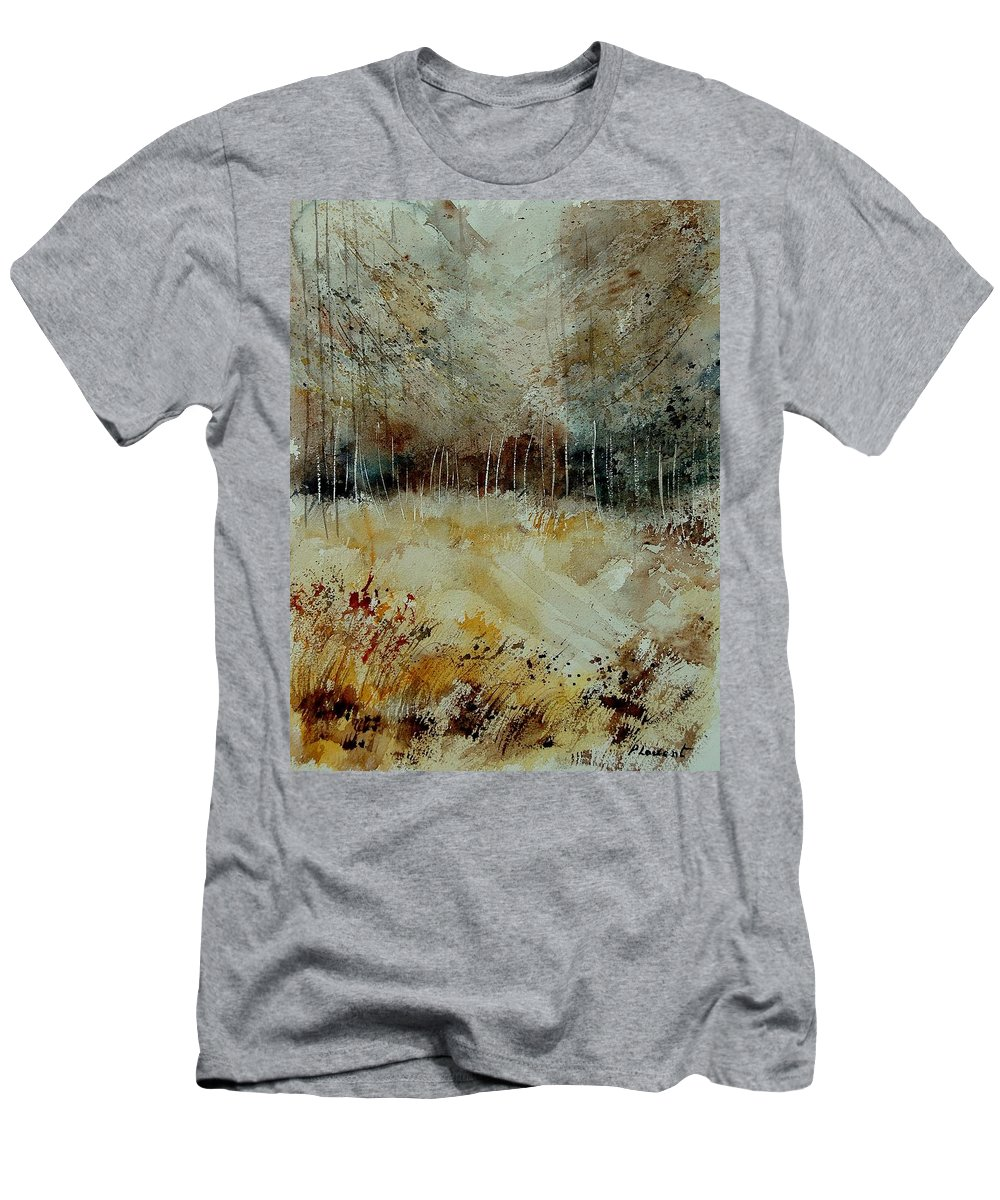 Tree T-Shirt featuring the painting Watercolor 9090722 by Pol Ledent
