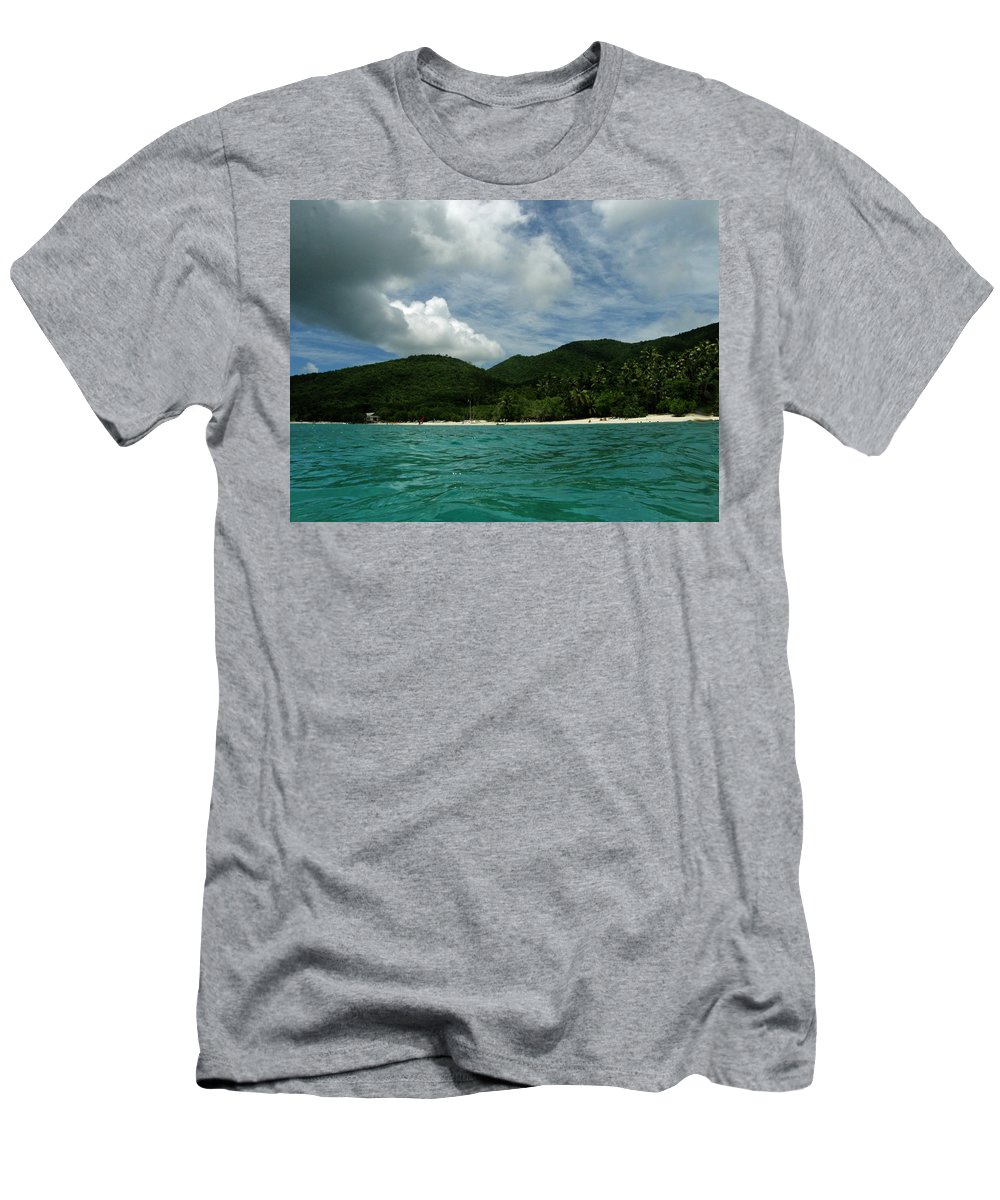 Ocean Men's T-Shirt (Athletic Fit) featuring the photograph Waterfront View by Kimberly Mohlenhoff