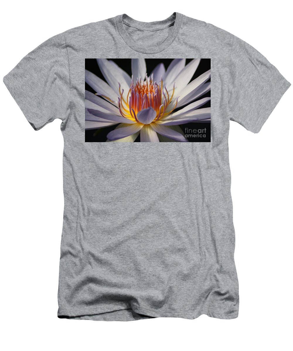 Waterlily Men's T-Shirt (Athletic Fit) featuring the photograph Waterlily by Helen Weston