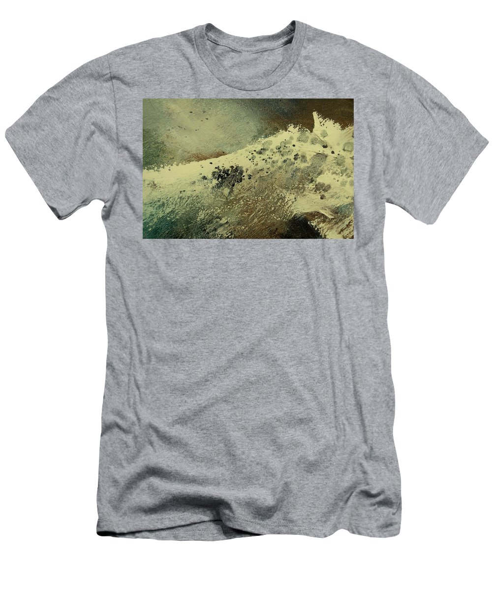 Sea Men's T-Shirt (Athletic Fit) featuring the painting Wave by Pol Ledent