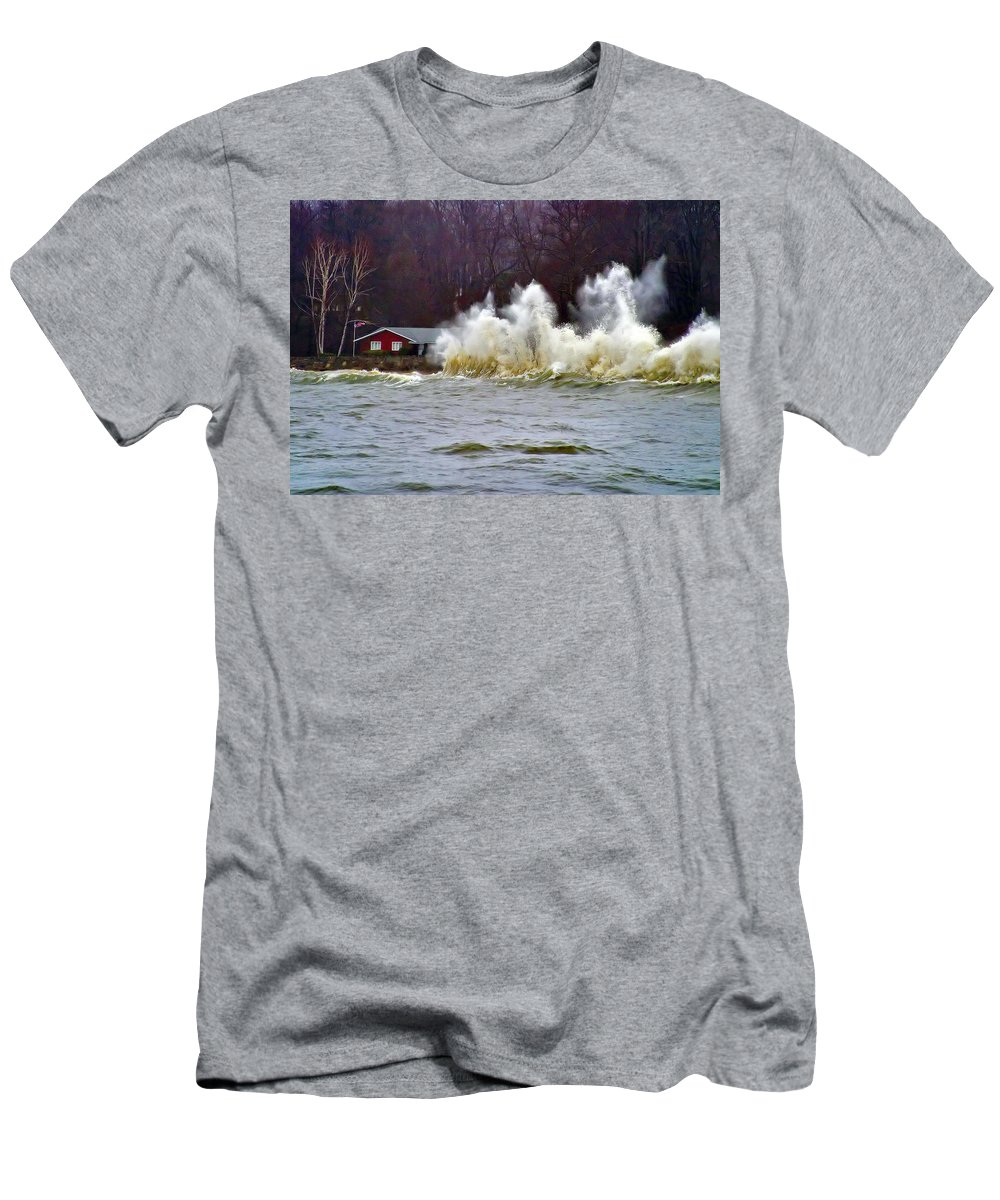 Storms Men's T-Shirt (Athletic Fit) featuring the photograph Waveform by Karl Ford