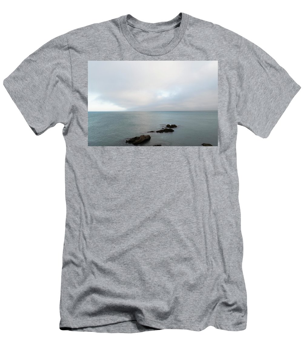 Sea Men's T-Shirt (Athletic Fit) featuring the photograph We Found The Sea Of Green by Alex Lapidus