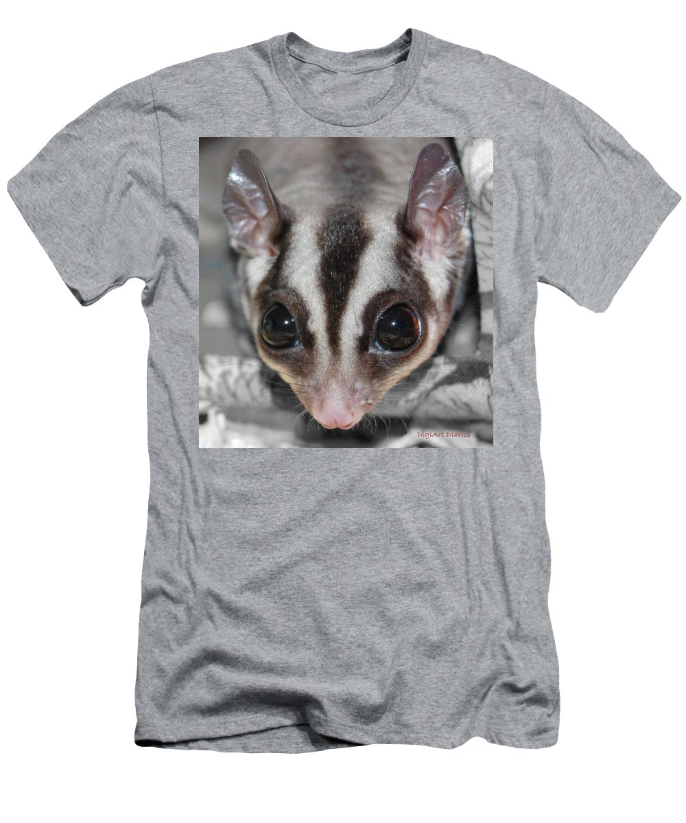 Sugar Glider Men's T-Shirt (Athletic Fit) featuring the digital art Well Hello There by DigiArt Diaries by Vicky B Fuller