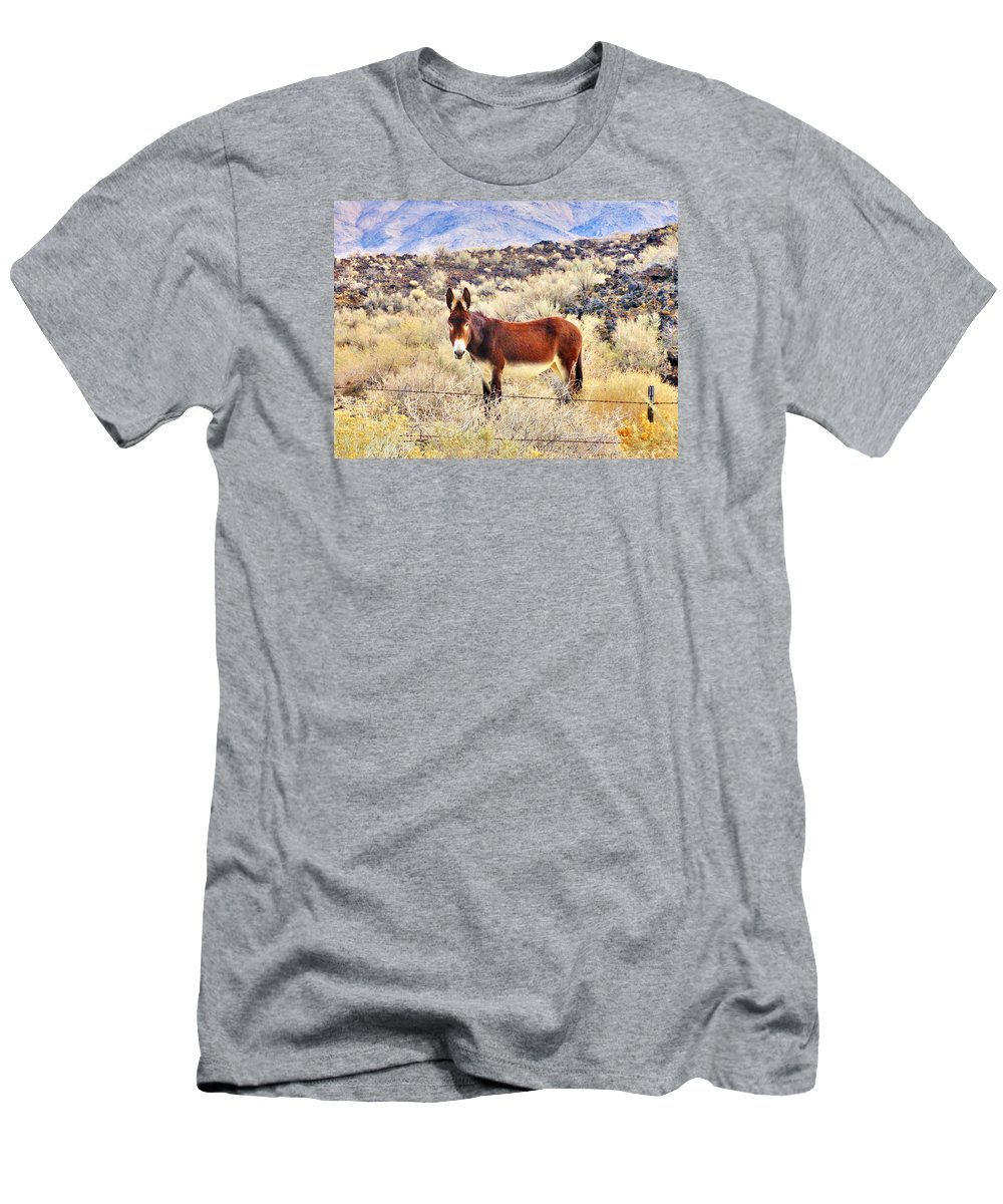 Desert Men's T-Shirt (Athletic Fit) featuring the photograph Whatcha Doing by Marilyn Diaz