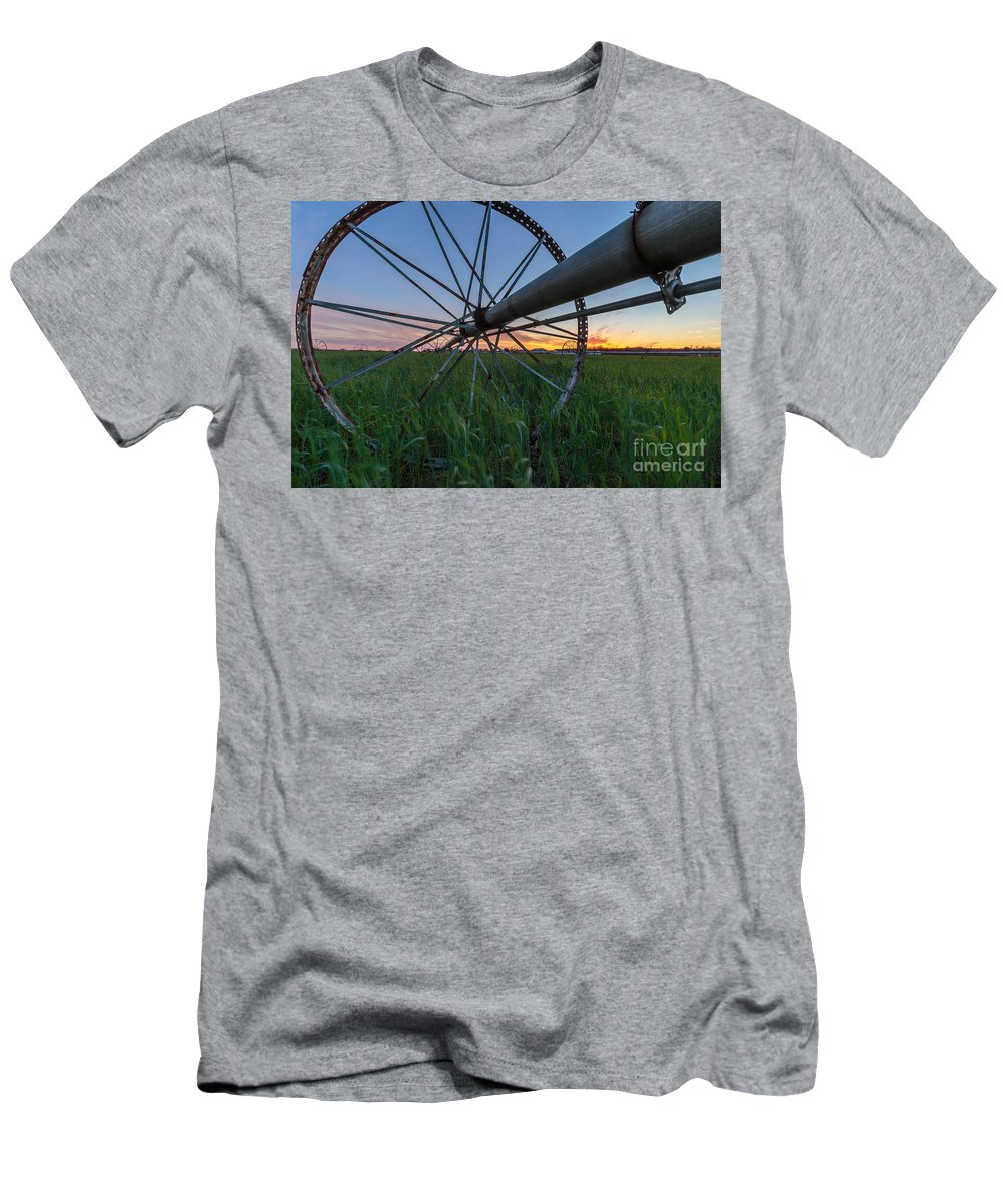 Landscape Men's T-Shirt (Athletic Fit) featuring the photograph Wheels On Sound by David Arteaga