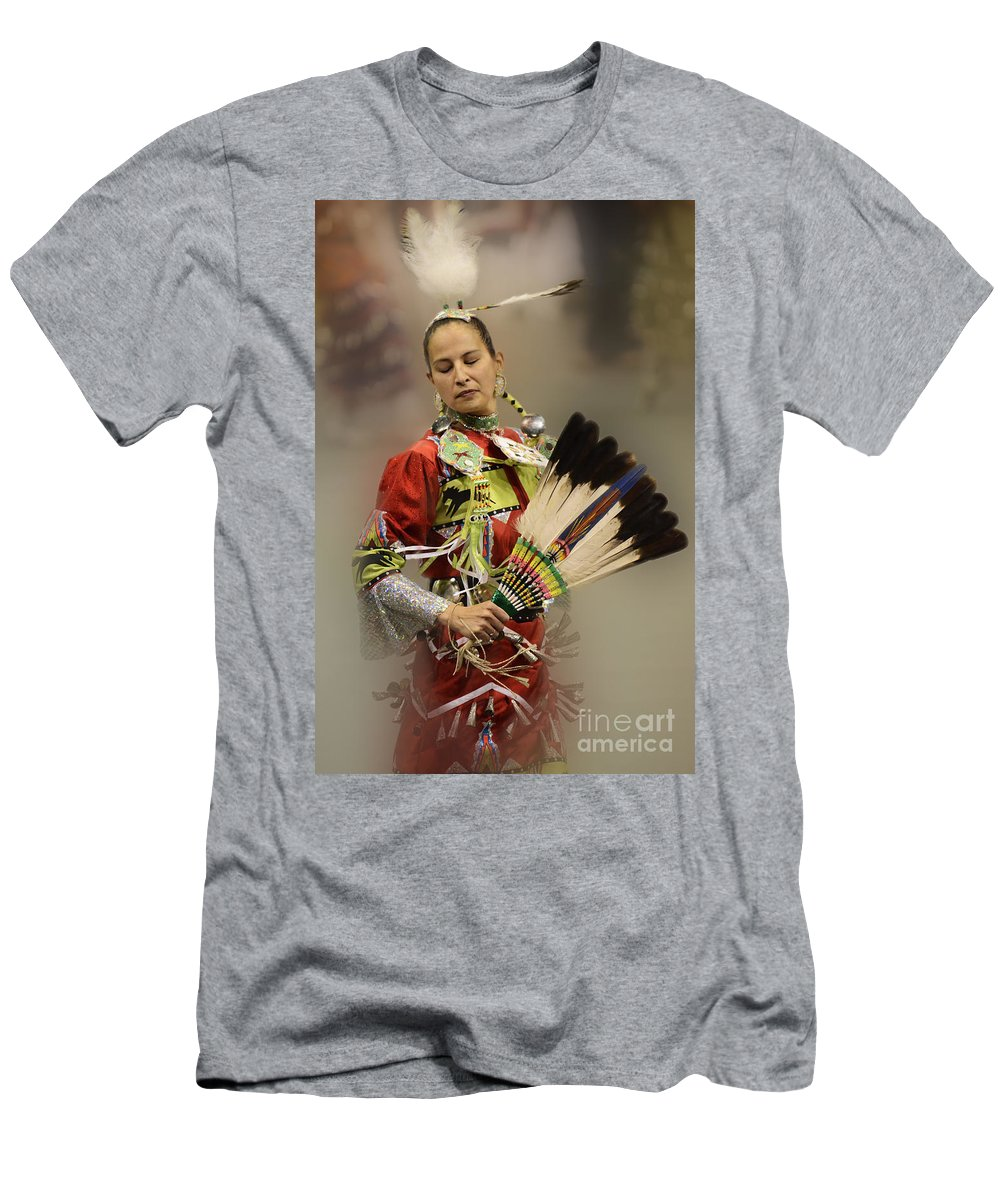 Pow Wow Men's T-Shirt (Athletic Fit) featuring the photograph Pow Wow Where Are You Now by Bob Christopher