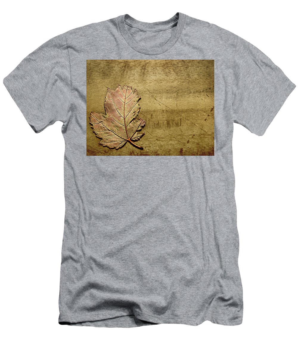Autumn Men's T-Shirt (Athletic Fit) featuring the photograph ...while You Fall Apart by Dana DiPasquale