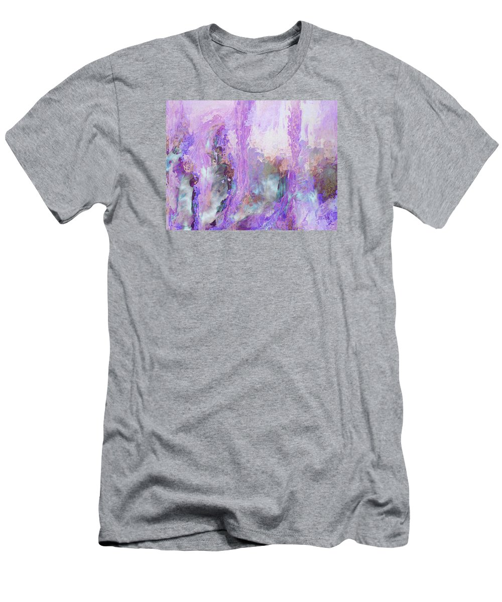 Abstract Art Men's T-Shirt (Athletic Fit) featuring the digital art Whisper Softly by Linda Murphy