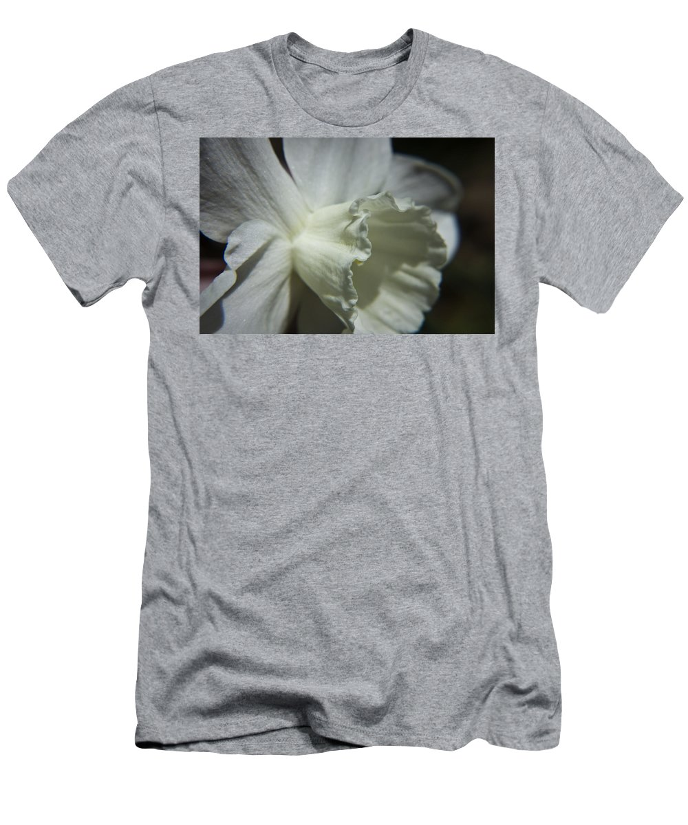 Flower Men's T-Shirt (Athletic Fit) featuring the photograph White Daffodil by Teresa Mucha