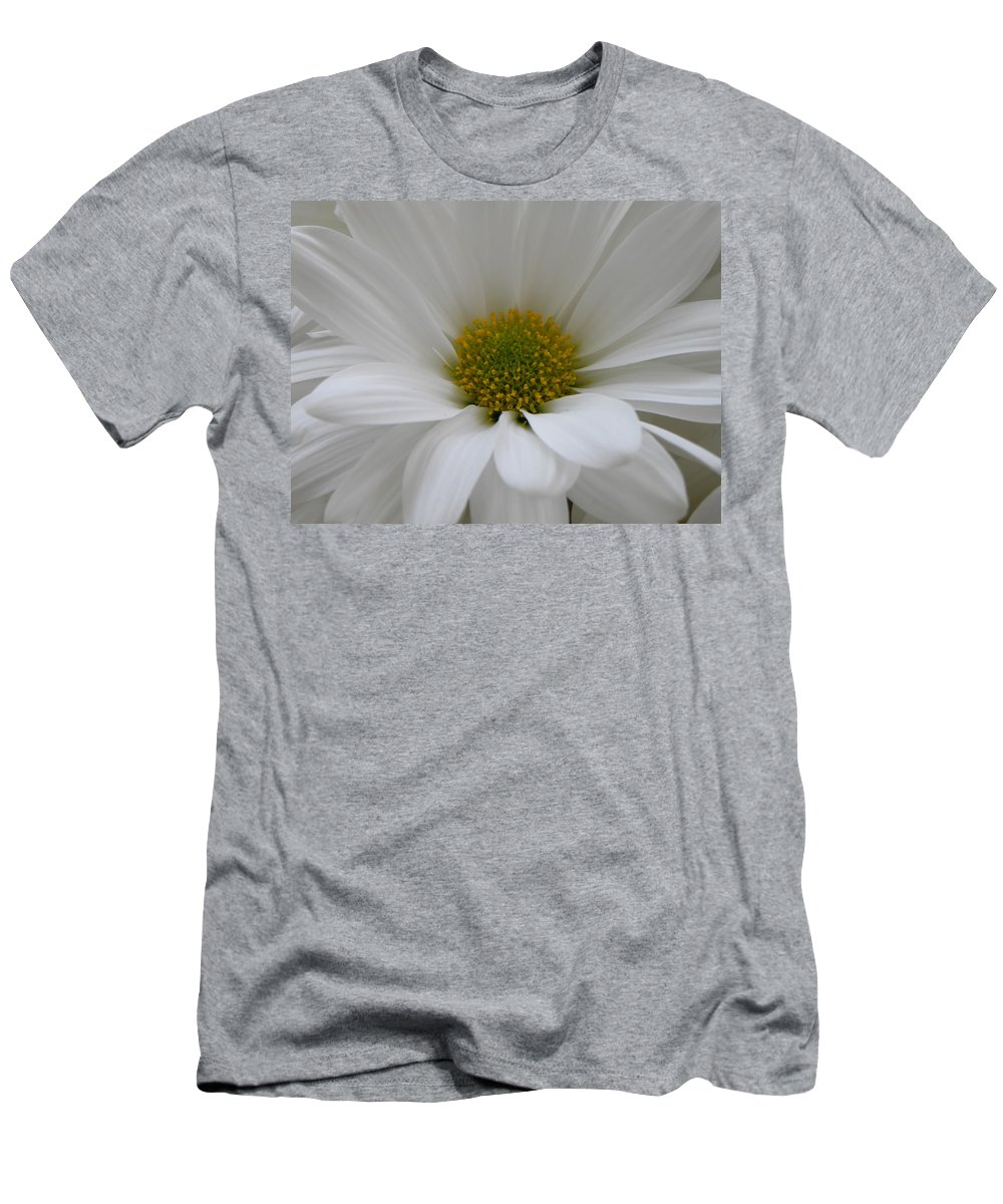 Nature Men's T-Shirt (Athletic Fit) featuring the photograph White Daisy by Shannon Turek