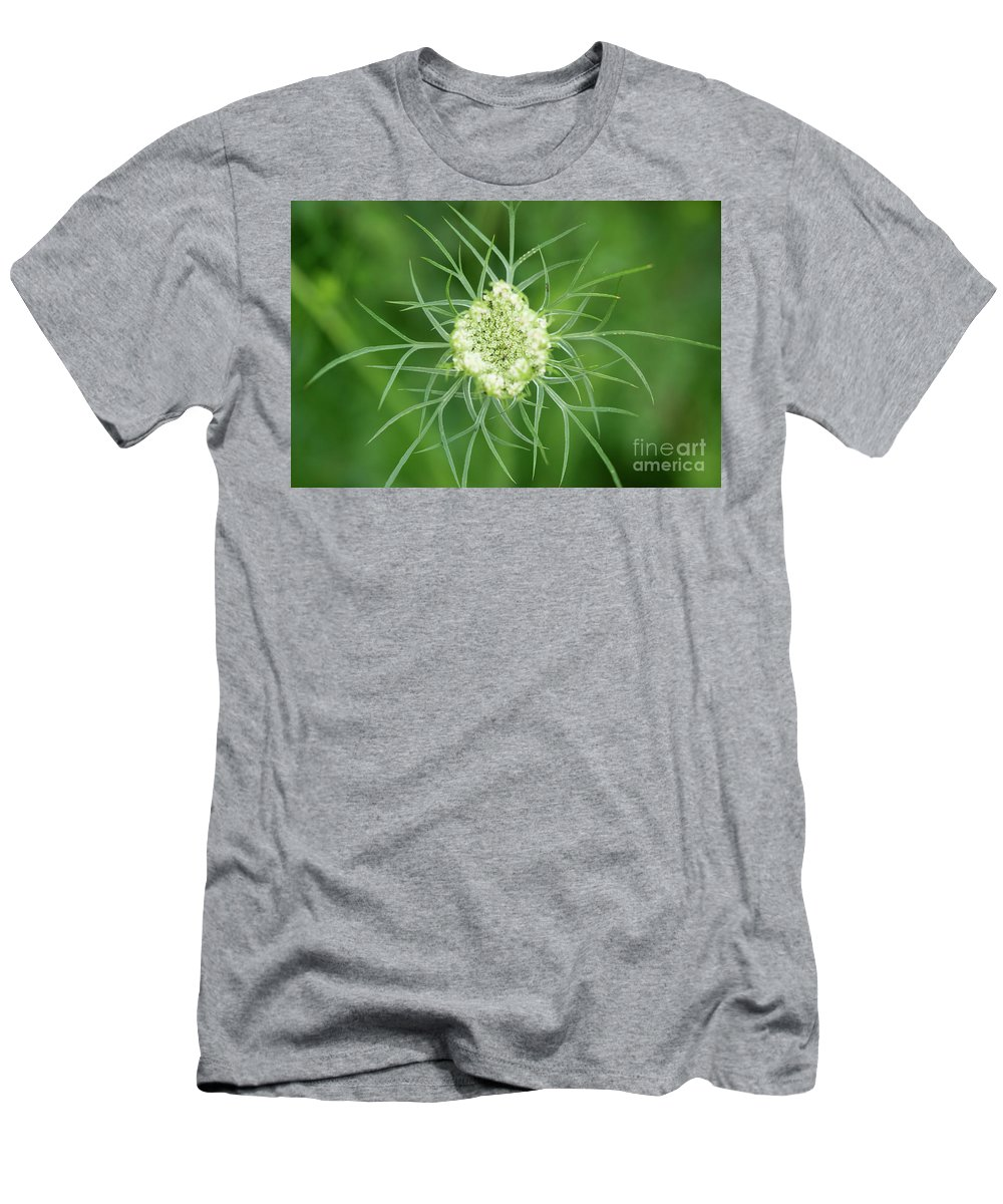 Ohio Flower Men's T-Shirt (Athletic Fit) featuring the photograph White Flower Spidery Leaves by Michelle Himes