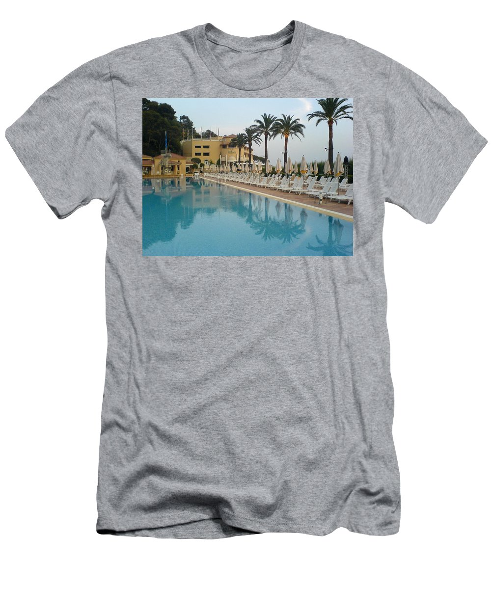 Pool Men's T-Shirt (Athletic Fit) featuring the photograph White Night by Are Lund