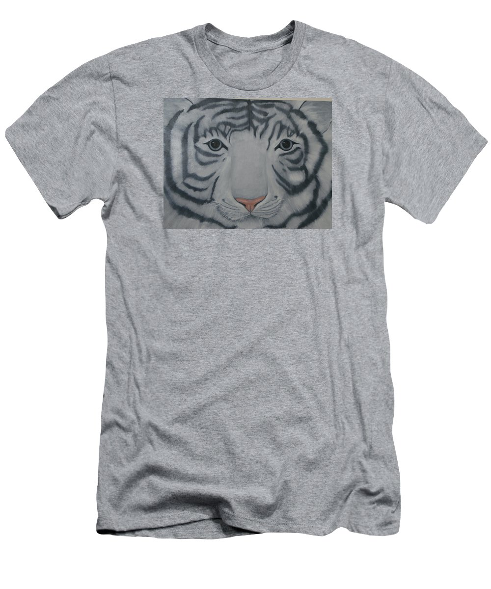 White Tiger Men's T-Shirt (Athletic Fit) featuring the painting White Tiger by Toni Berry