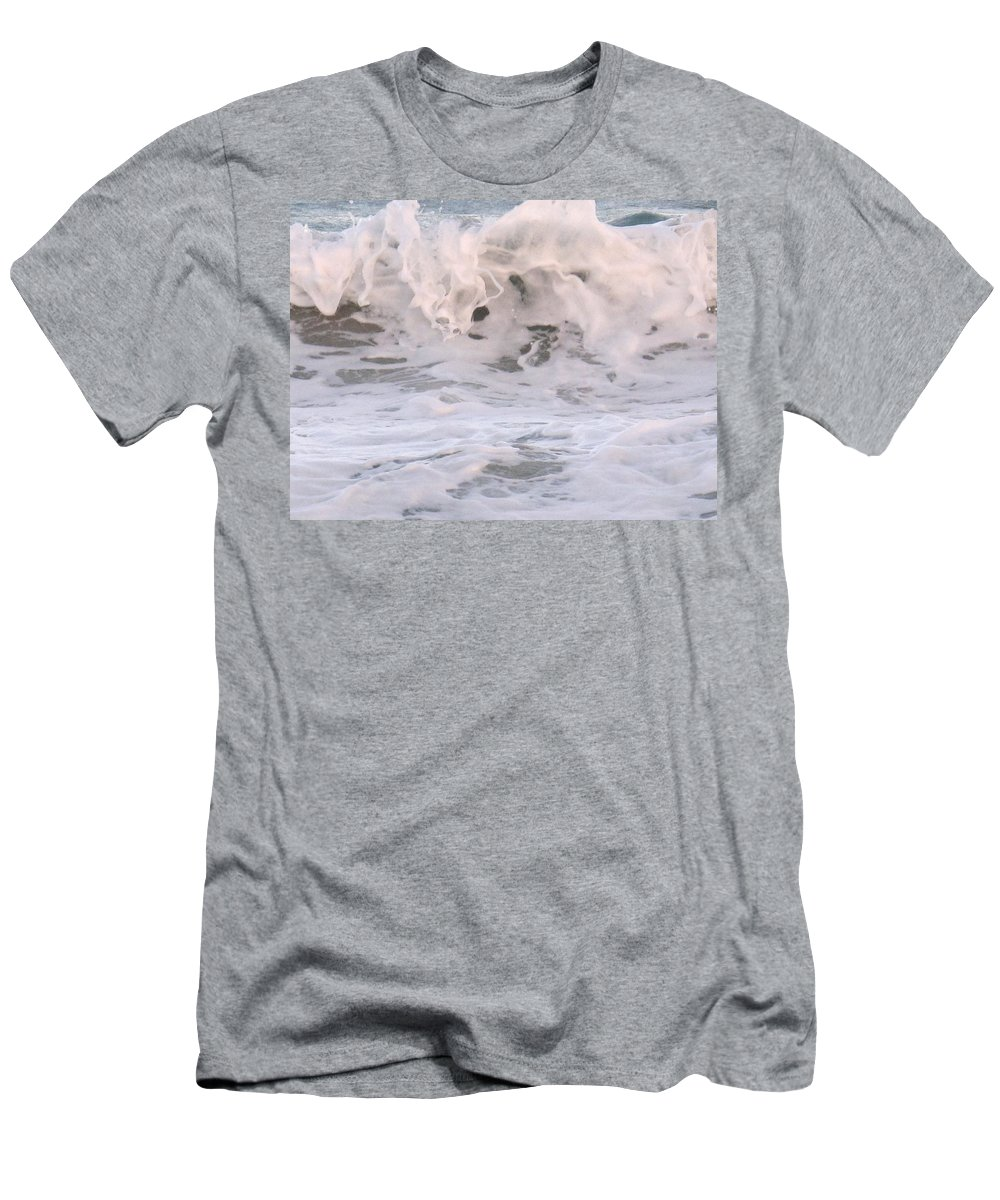 Surf Men's T-Shirt (Athletic Fit) featuring the photograph Wild Surf by Ian MacDonald
