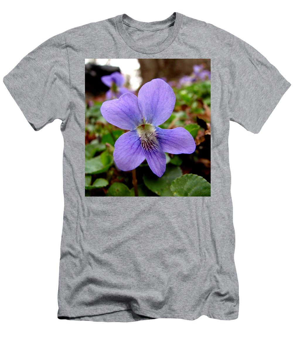 Violet Men's T-Shirt (Athletic Fit) featuring the photograph Wild Violet 1 by J M Farris Photography