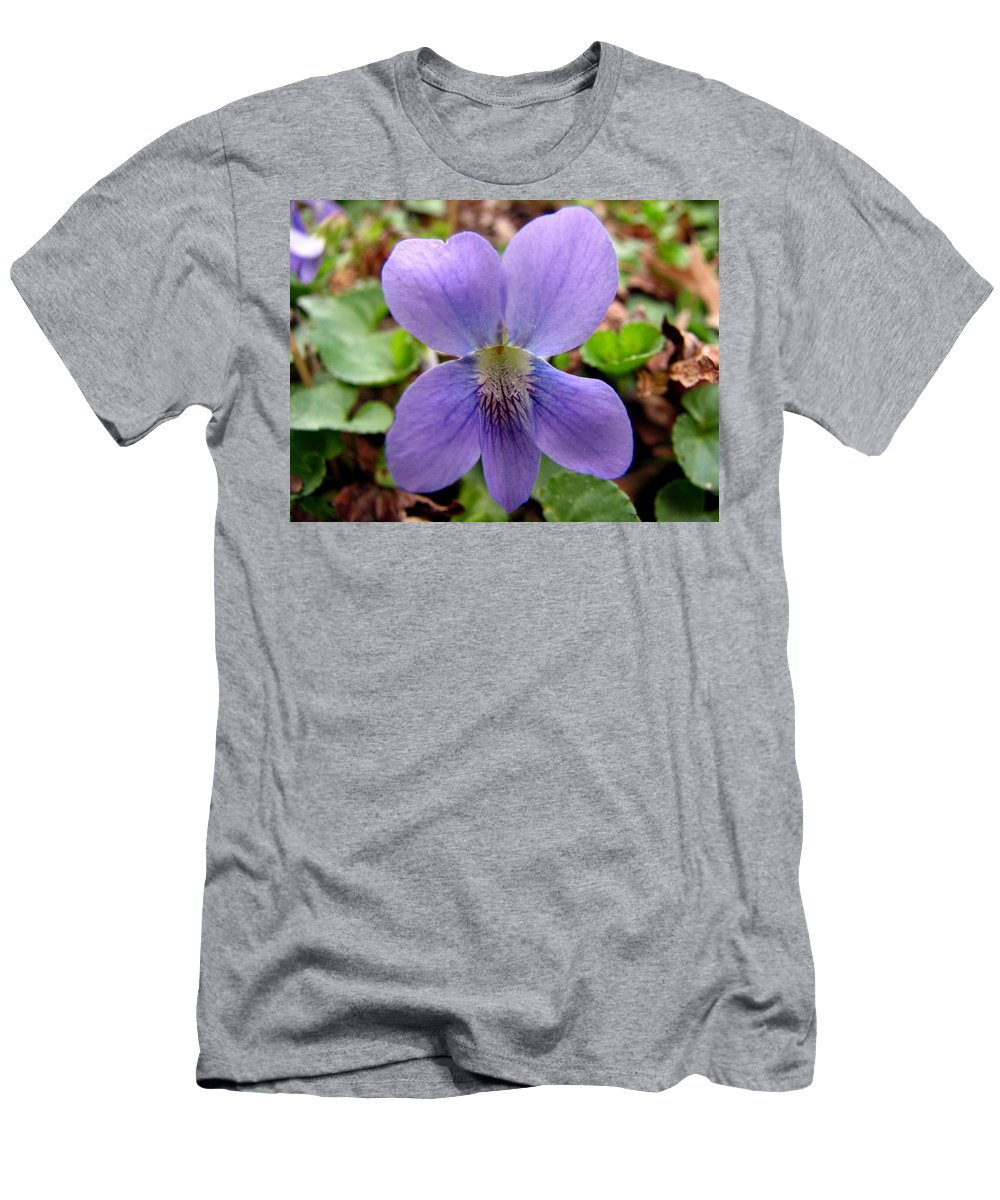 Violet Men's T-Shirt (Athletic Fit) featuring the photograph Wild Violet 2 by J M Farris Photography