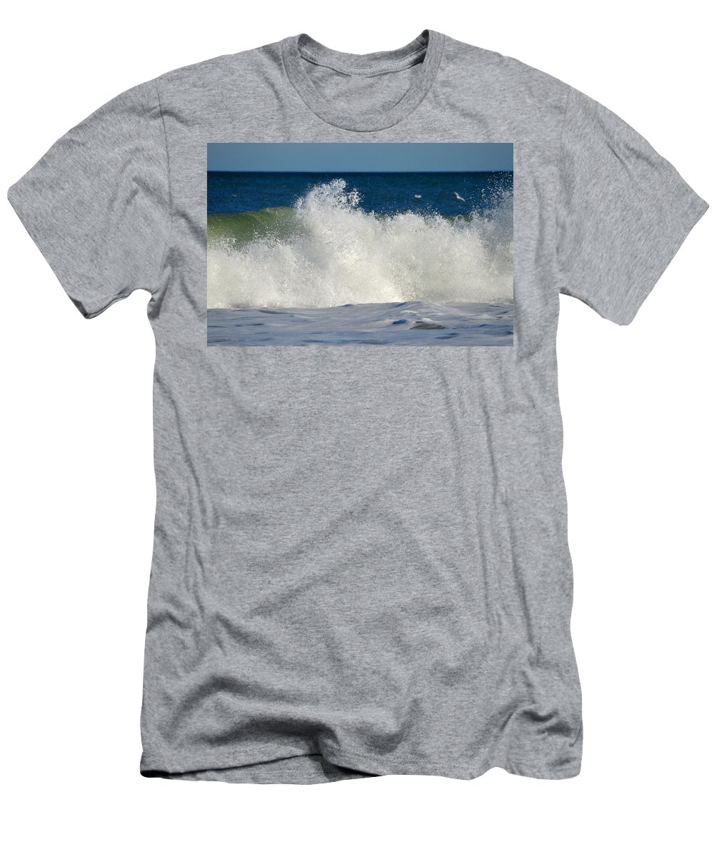 Ocean Men's T-Shirt (Athletic Fit) featuring the photograph Wild Waves by Dianne Cowen