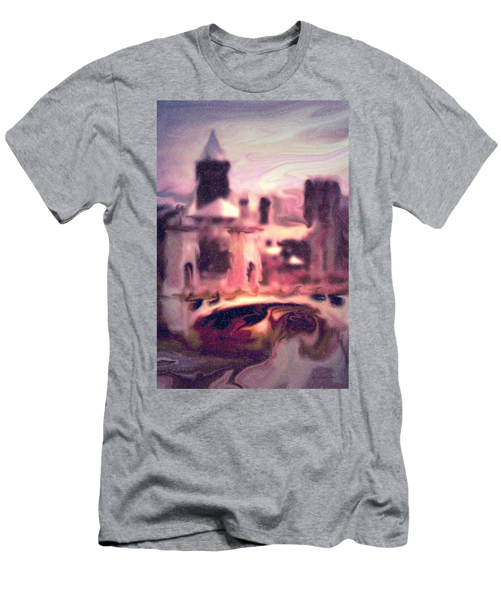 Bright Men's T-Shirt (Athletic Fit) featuring the photograph Wilkes Barre Pennsylvania by Arthur Miller