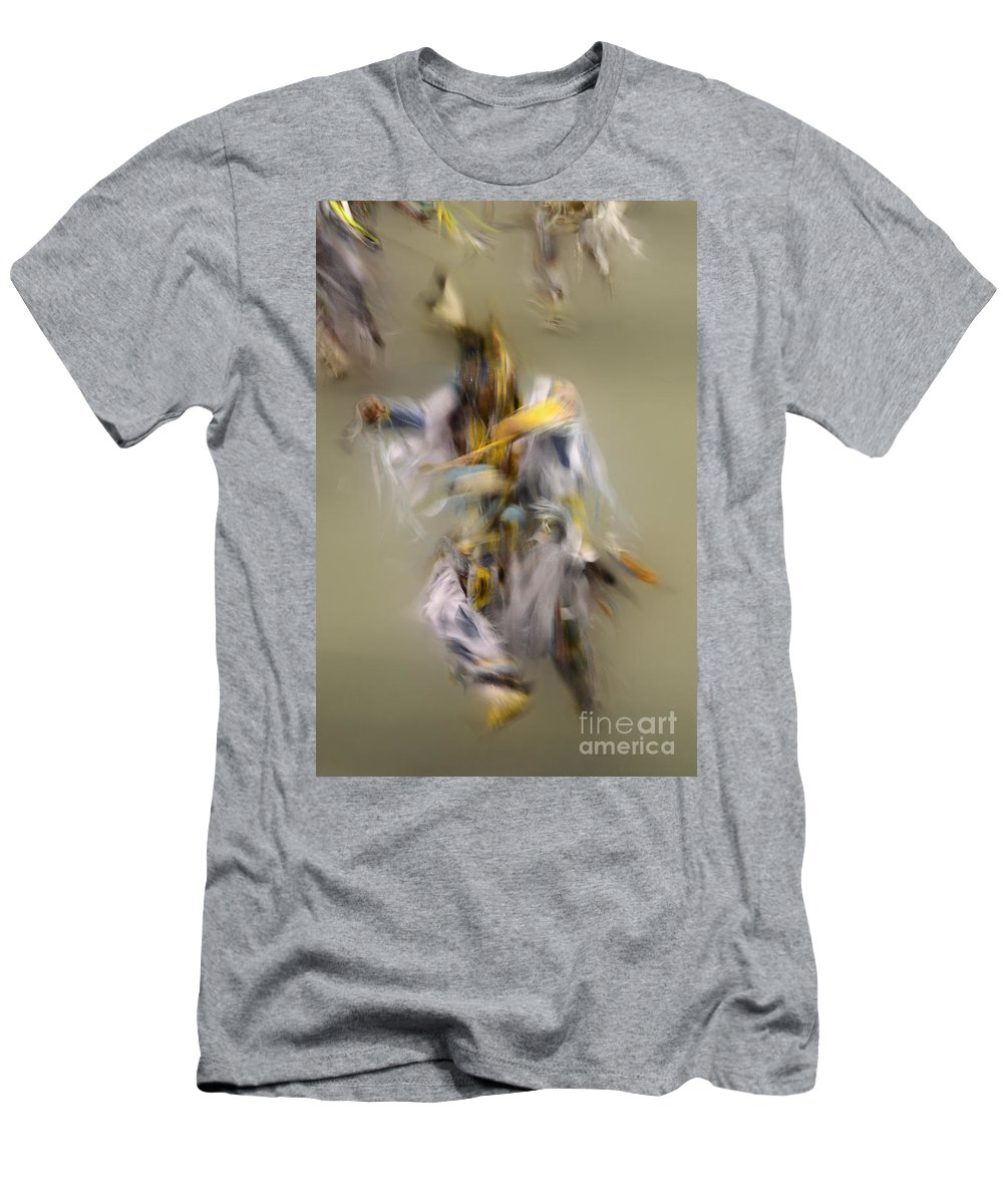 Pow Wow Men's T-Shirt (Athletic Fit) featuring the photograph Pow Wow Windigo 2 by Bob Christopher