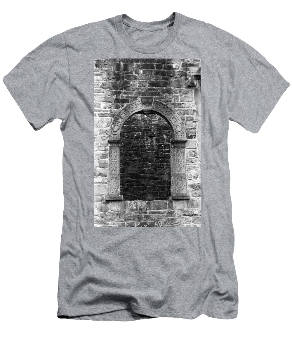 Irish Men's T-Shirt (Athletic Fit) featuring the photograph Window At Donegal Castle Ireland by Teresa Mucha