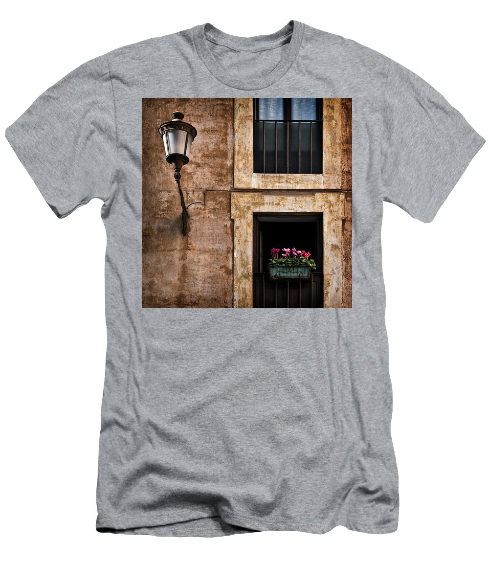 Window Box Men's T-Shirt (Athletic Fit) featuring the photograph Window Box by Dave Bowman