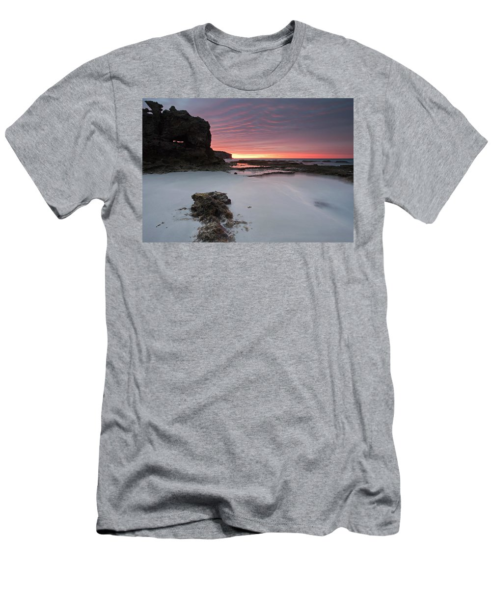 Sunrise Men's T-Shirt (Athletic Fit) featuring the photograph Window On Dawn by Mike Dawson