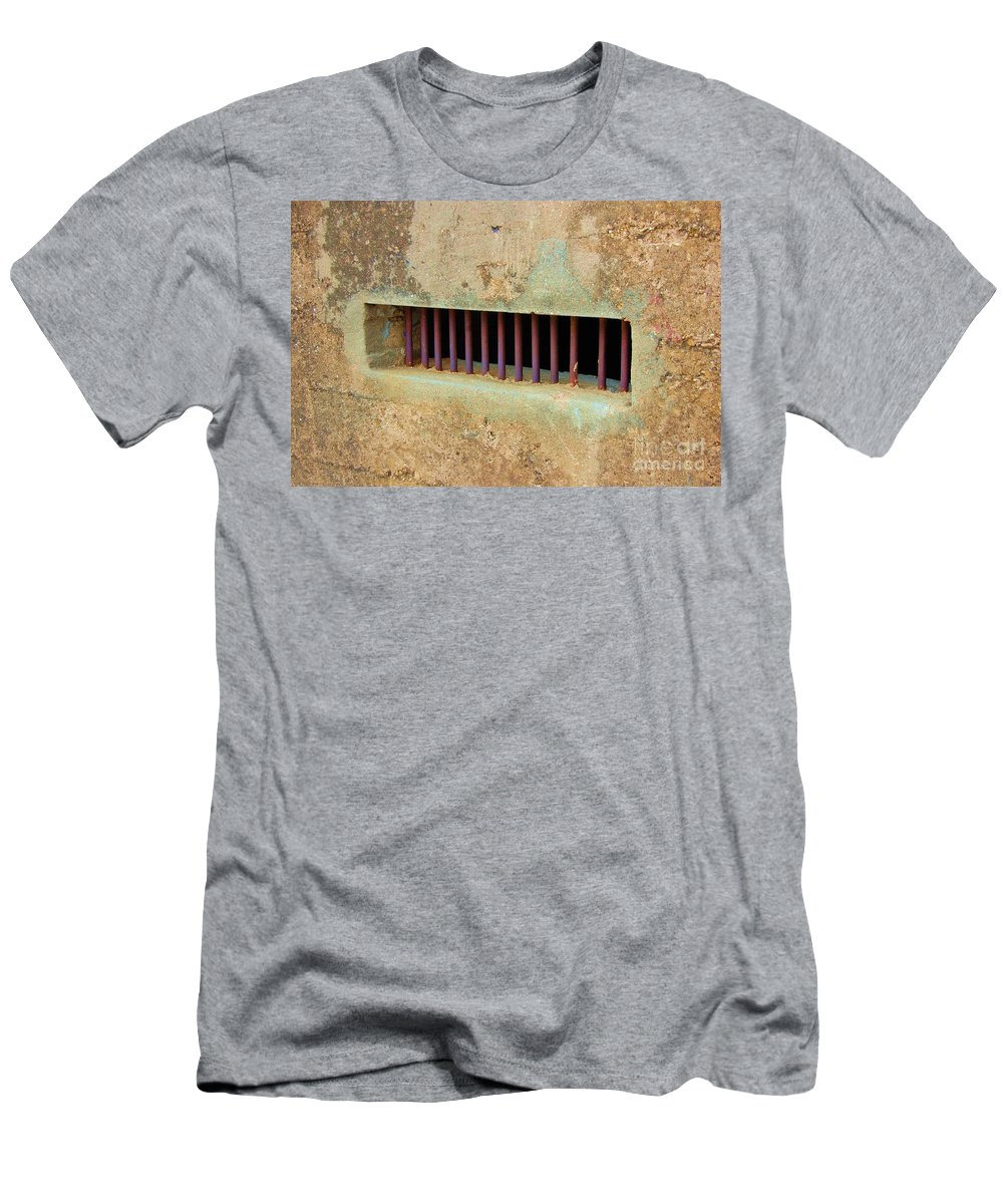 Jail Men's T-Shirt (Athletic Fit) featuring the photograph Window To The World by Debbi Granruth