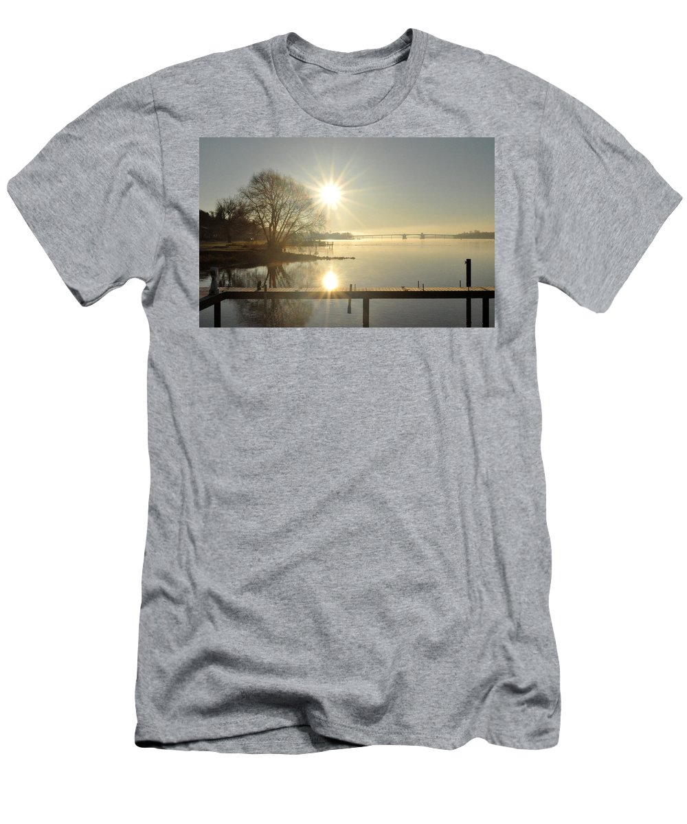 Water Men's T-Shirt (Athletic Fit) featuring the photograph Winter Is Coming by Tim Nyberg