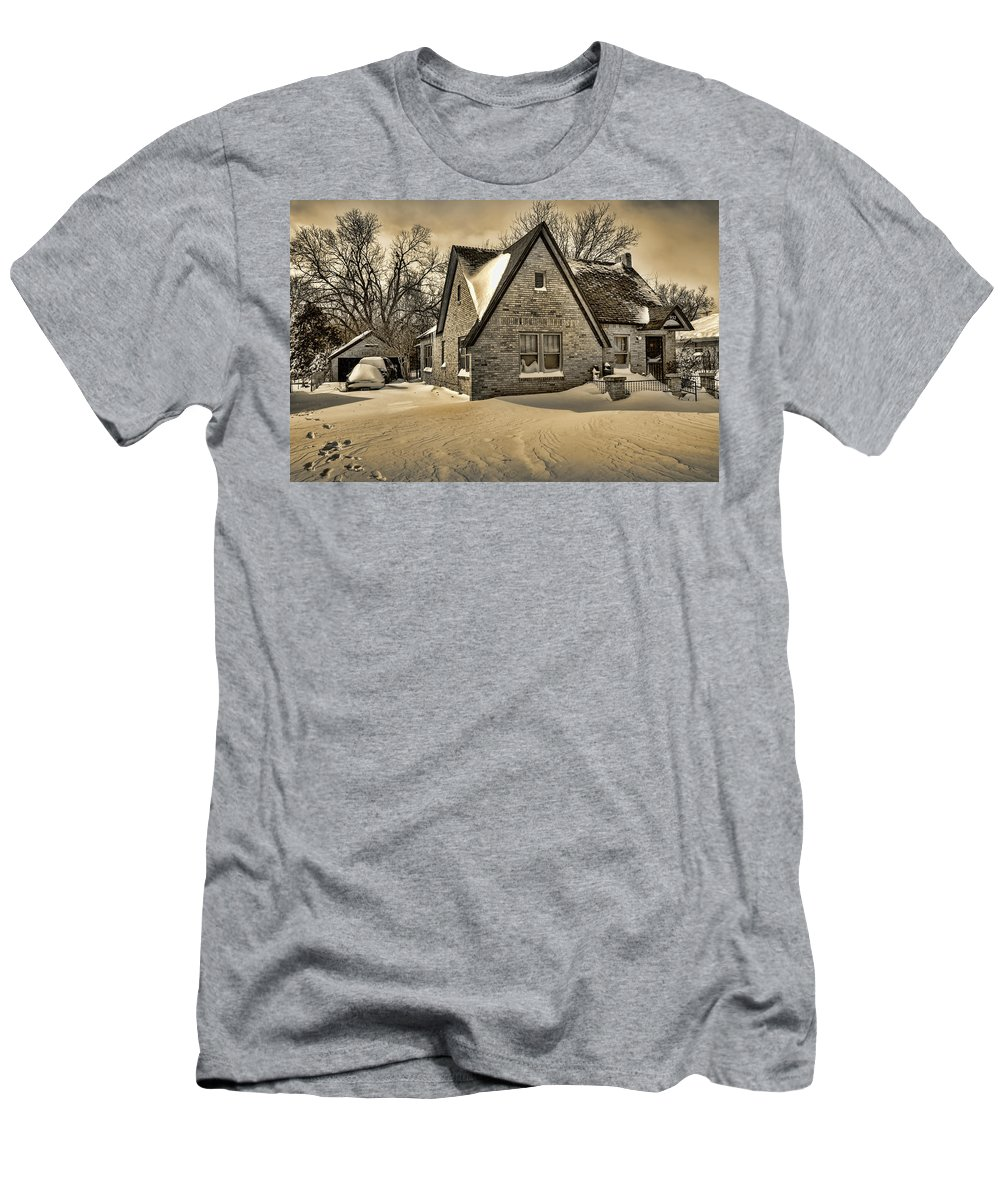 Winter Men's T-Shirt (Athletic Fit) featuring the photograph Winter Snow II by Ricky Barnard