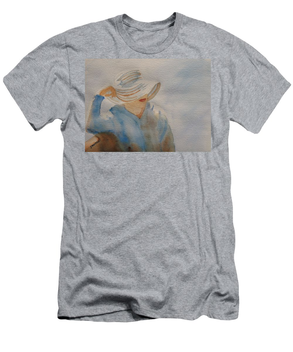 Girls Men's T-Shirt (Athletic Fit) featuring the painting Winter Sun I by Jenny Armitage