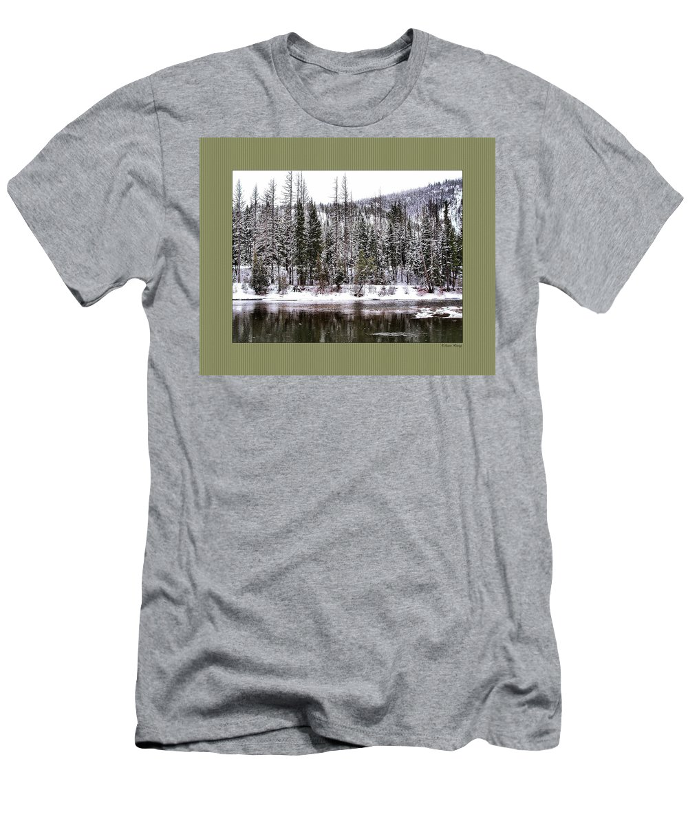 Montana Men's T-Shirt (Athletic Fit) featuring the photograph Winter Trees by Susan Kinney