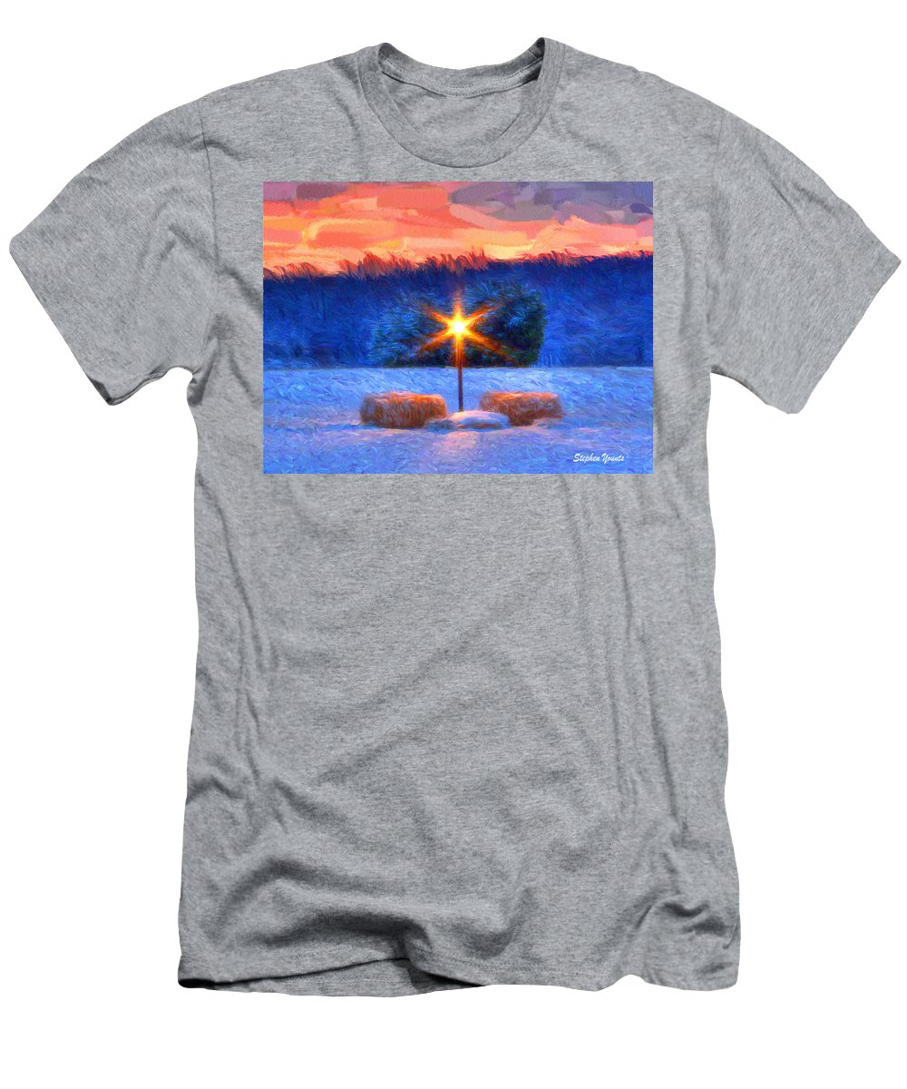 Winter Men's T-Shirt (Athletic Fit) featuring the digital art Winter's Morn by Stephen Younts