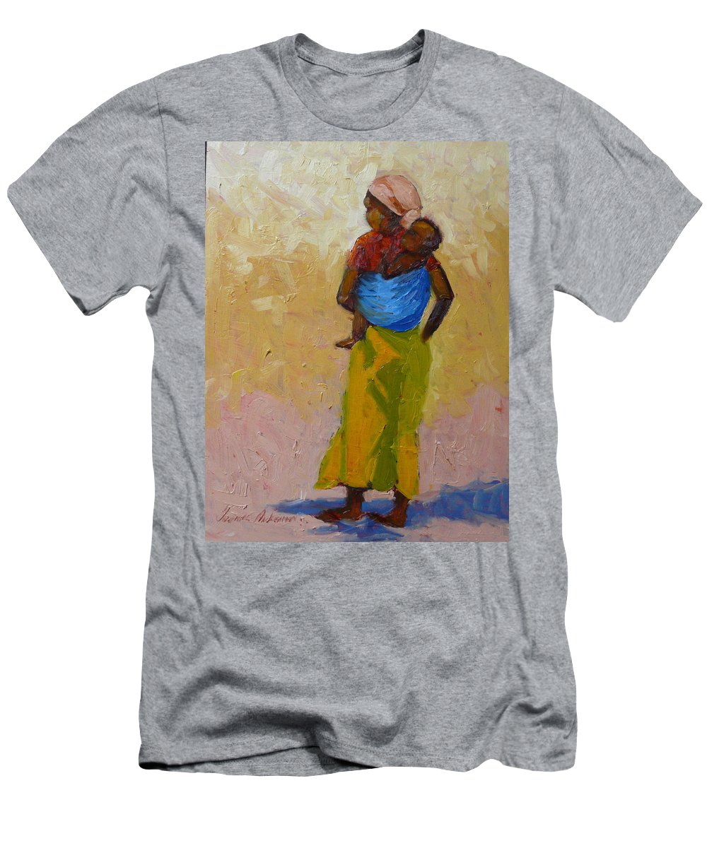 Figures Men's T-Shirt (Athletic Fit) featuring the painting Woman With Baby by Yvonne Ankerman