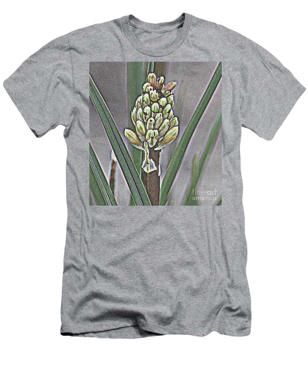 Wooden Men's T-Shirt (Athletic Fit) featuring the photograph Wooden Stem by Anita Goel