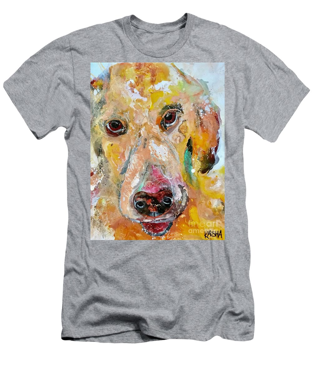 Dog Men's T-Shirt (Athletic Fit) featuring the painting Woof by Kasha Ritter