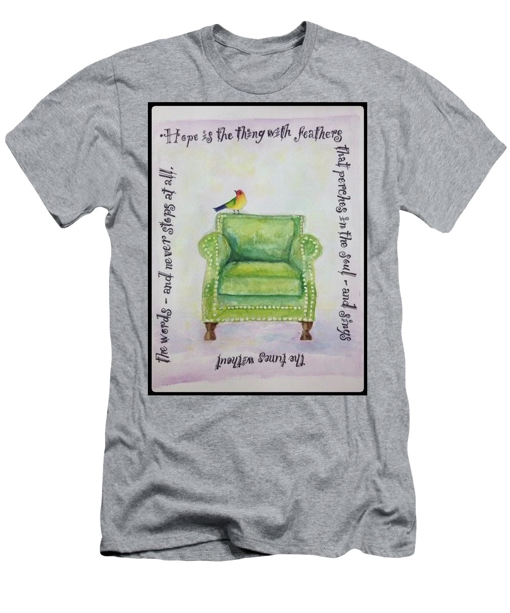 Hope Men's T-Shirt (Athletic Fit) featuring the painting Hope by Bonny Butler