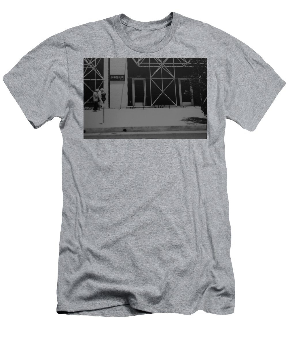 Black And White Men's T-Shirt (Athletic Fit) featuring the photograph X by Rob Hans