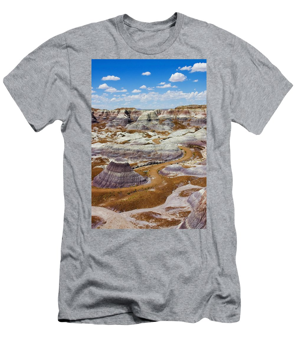 Painted Desert Men's T-Shirt (Athletic Fit) featuring the photograph Yea Though I Walk by Skip Hunt