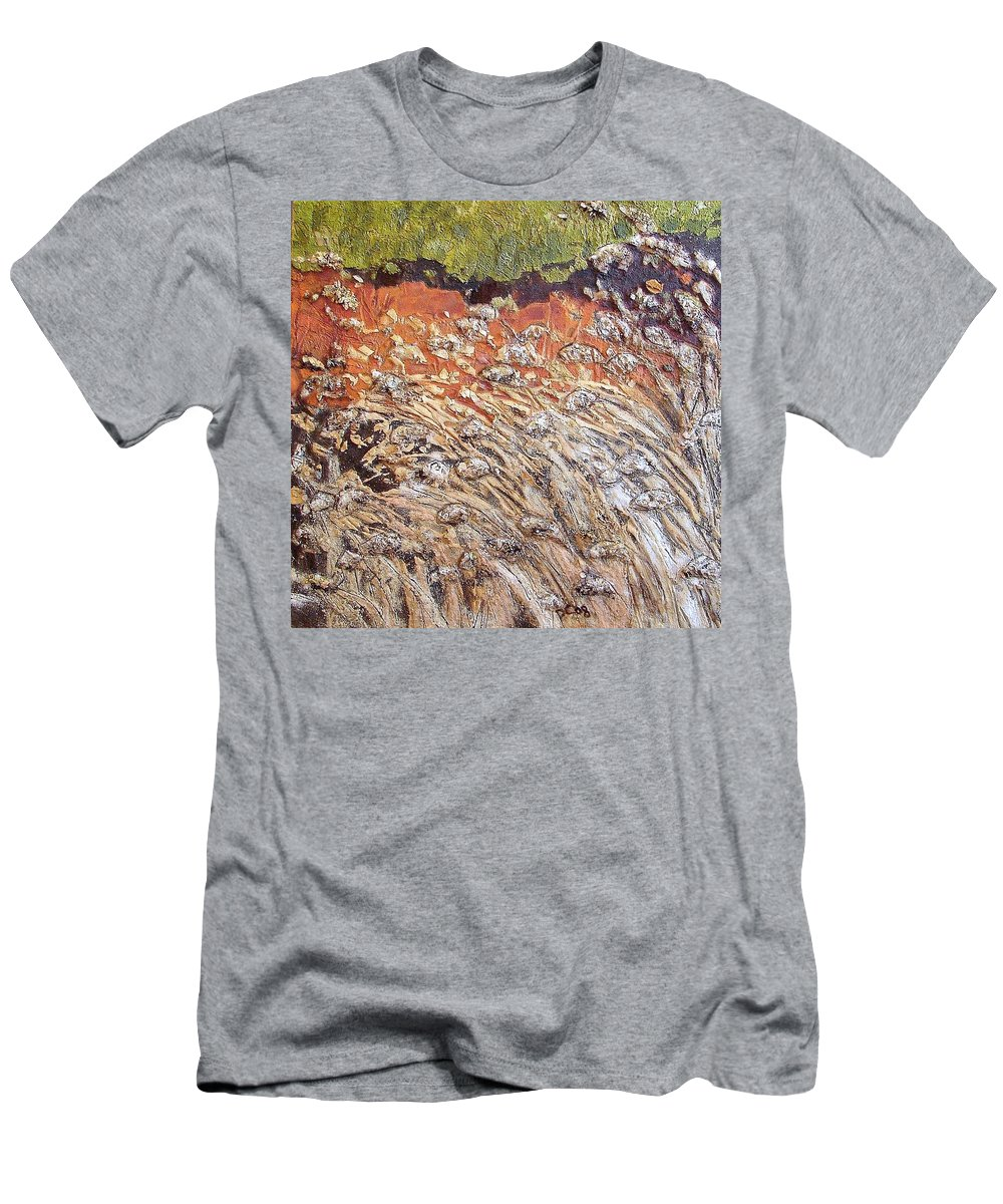 Abstract Men's T-Shirt (Athletic Fit) featuring the painting Yearning by Piety Choi