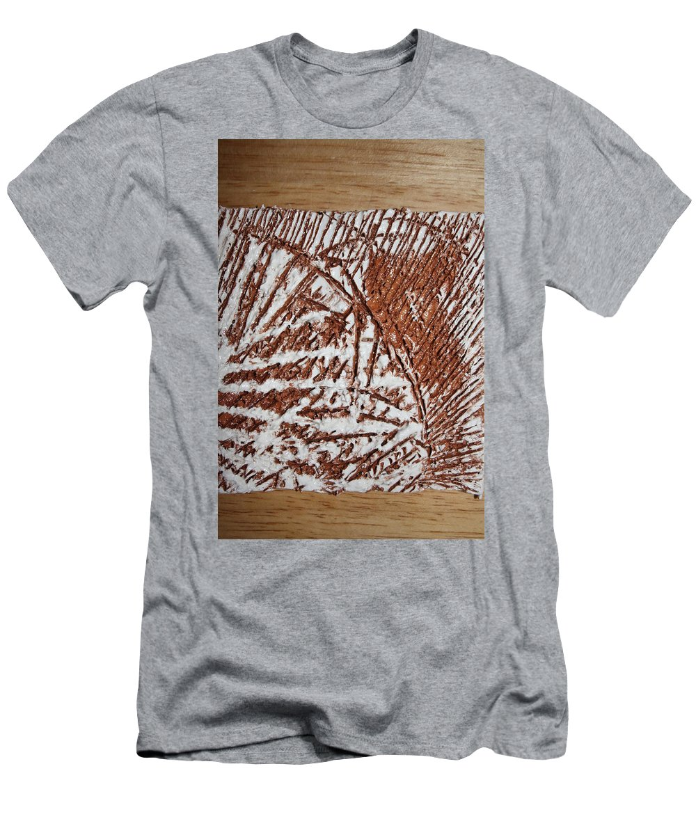 Jesus Men's T-Shirt (Athletic Fit) featuring the ceramic art Yell - Tile by Gloria Ssali