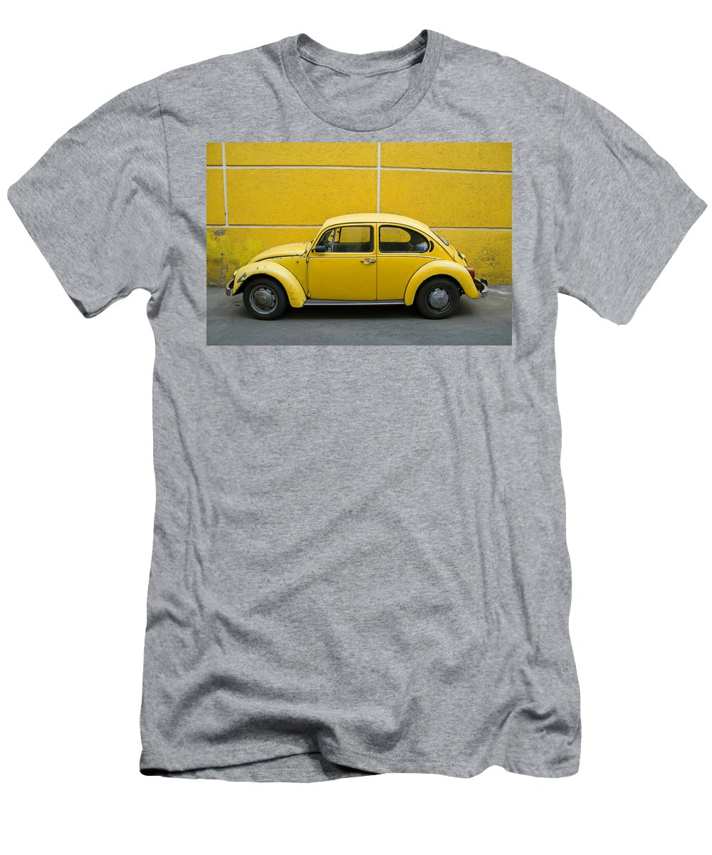Yellow Men's T-Shirt (Athletic Fit) featuring the photograph Yellow Bug by Skip Hunt