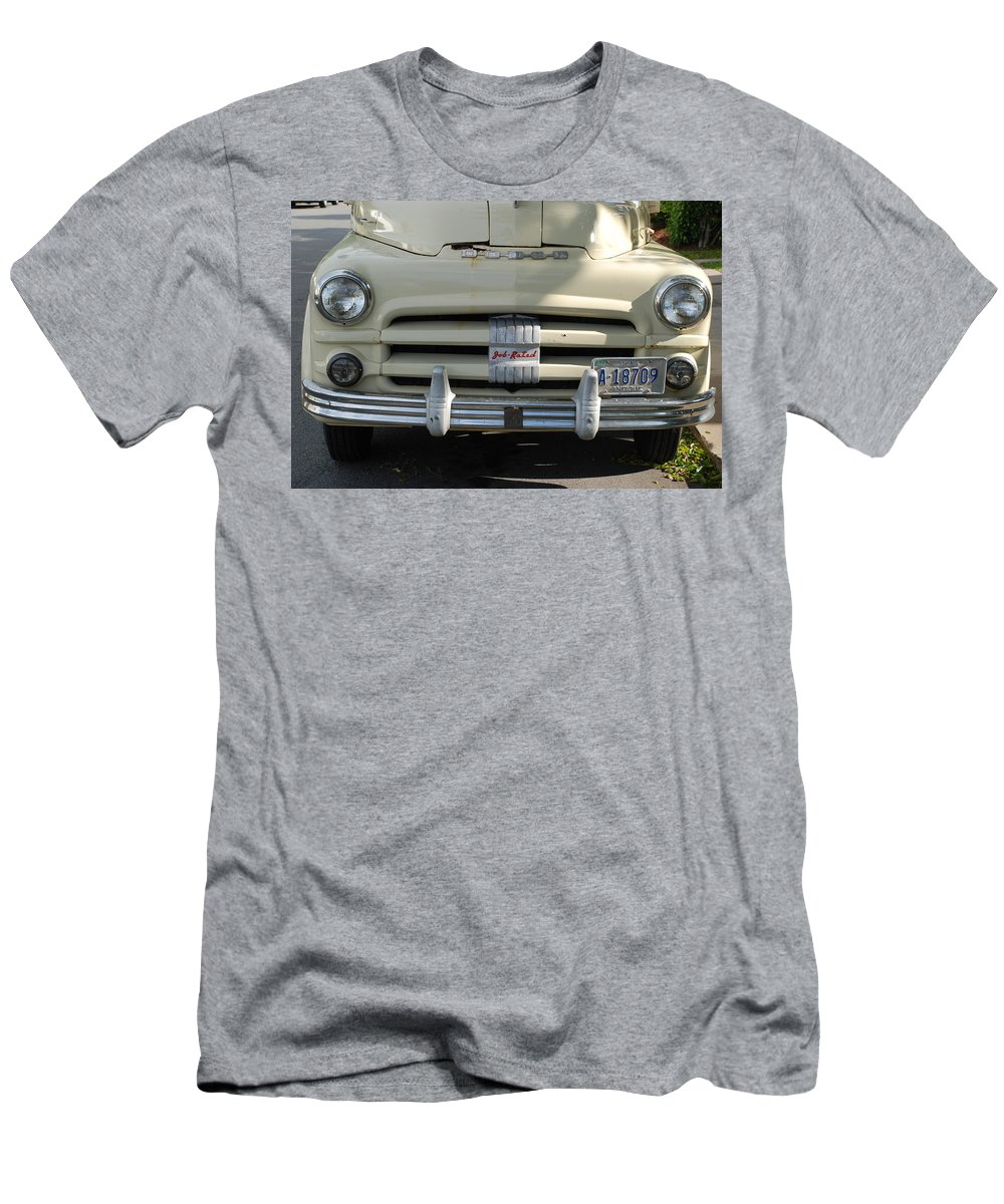 Truck Men's T-Shirt (Athletic Fit) featuring the photograph Yellow Dodge by Rob Hans