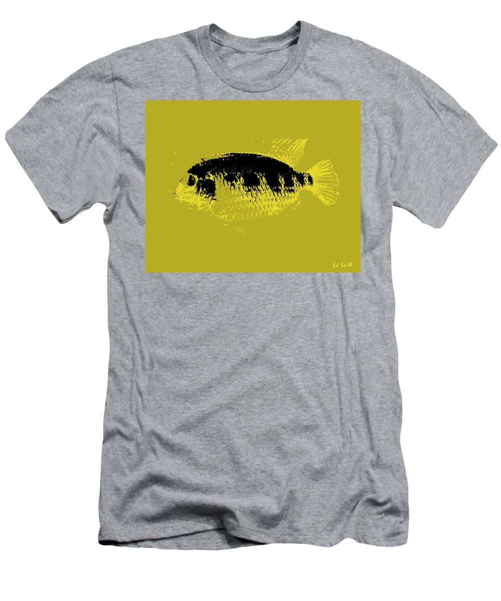 Yellow Fish Men's T-Shirt (Athletic Fit) featuring the photograph Yellow Fish by Ed Smith